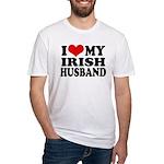 I Love My Irish Husband Fitted T-Shirt