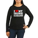 I Love My Irish Husband Women's Long Sleeve Dark T