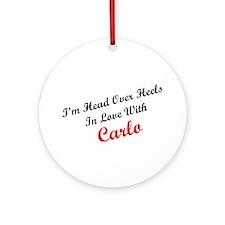 In Love with Carlo Ornament (Round)