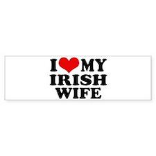 I Love My Irish Wife Bumper Bumper Sticker
