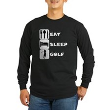 Eat Sleep Golf Long Sleeve T-Shirt