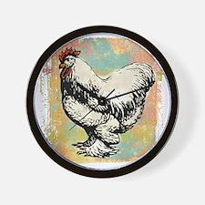 chicken-art-2 Wall Clock