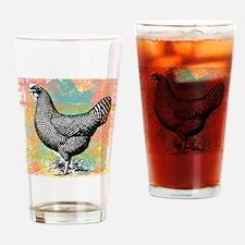 chicken-art Drinking Glass