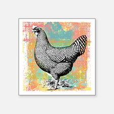 """chicken-art Square Sticker 3"""" x 3"""""""