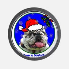 bulldogxmas-shirt Wall Clock