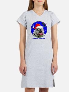 bulldogxmas-shirt Women's Nightshirt