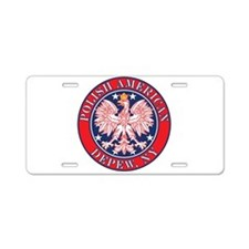 Depew New York Polish Aluminum License Plate