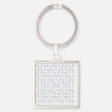 Shower Painted Circles lavender Square Keychain