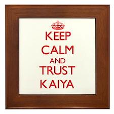 Keep Calm and TRUST Kaiya Framed Tile