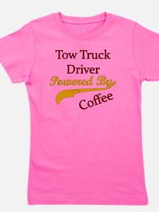 tow  Powered by coffee Girl's Tee