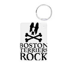 Boston Terriers Rock Logo_ Keychains