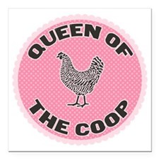 "queen-1 Square Car Magnet 3"" x 3"""