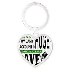 Bank Account Heart Keychain