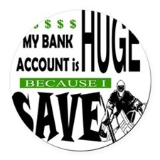 Bank Account Round Car Magnet