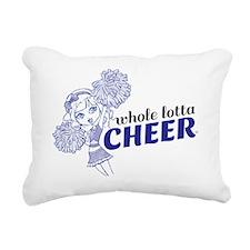 Cheer_NavyBlue-01 Rectangular Canvas Pillow
