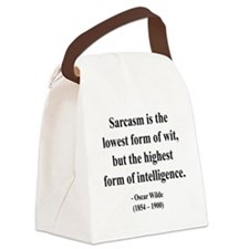 Oscar Wilde 29 btext Canvas Lunch Bag