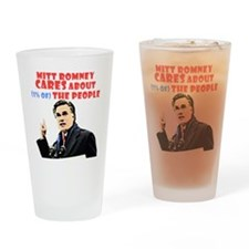 Romney for the 1% Drinking Glass
