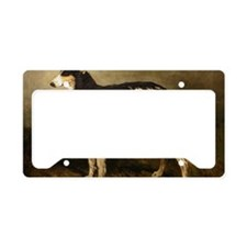 BorzoiPaintingPC100 License Plate Holder