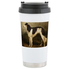 BorzoiPaintingPC100 Travel Mug