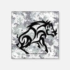 "Digital Camo boar Square Sticker 3"" x 3"""
