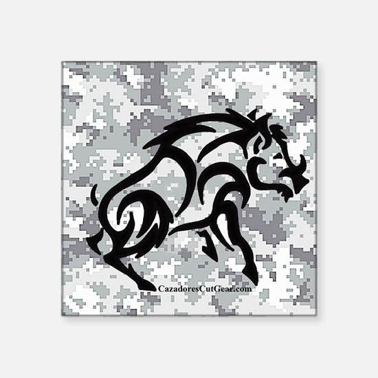 """Digital Camo boar Square Sticker 3"""" x 3"""""""