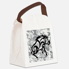 Digital Camo boar Canvas Lunch Bag