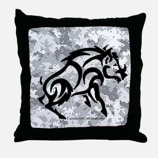 Digital Camo boar Throw Pillow