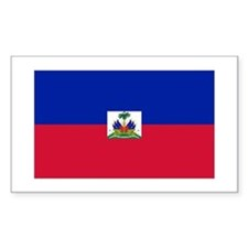 Republic Haiti flag Rectangle Decal