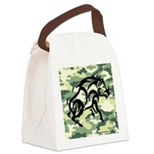 woodland Camo blk boar Canvas Lunch Bag
