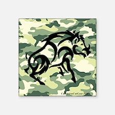 """woodland Camo blk boar Square Sticker 3"""" x 3"""""""