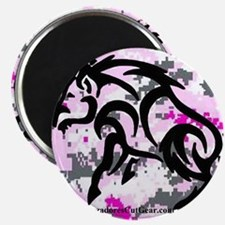Boar on Pink Digital Magnet