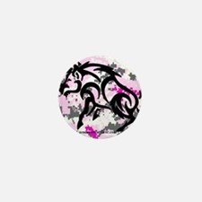 Boar on Pink Digital Mini Button