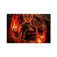 1_326_pyromancer_elyssa Rectangle Magnet