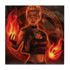 1_326_pyromancer_elyssa Tile Coaster