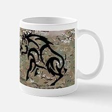 multicam tribal boar and dog bumperstic Mug