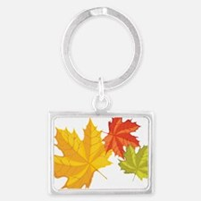 Fall Leaves Landscape Keychain
