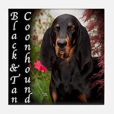 Black & Tan Coon Hound Tile Coaster