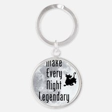 Legendary-Night Round Keychain
