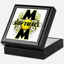Softball Mom (cross) copy Keepsake Box