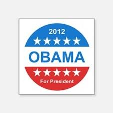 """2012 obama for presidentr s Square Sticker 3"""" x 3"""""""