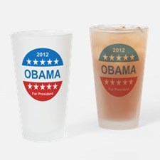 2012 obama for presidentr stars red Drinking Glass