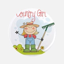 "country girl 3.5"" Button"