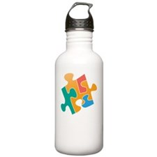think differently back Water Bottle