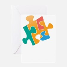 think differently back Greeting Card