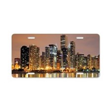 Chicago downtown for mugs Aluminum License Plate