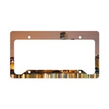 Chicago downtown for mugs License Plate Holder