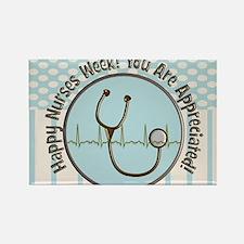 CP happy nurses week chocolate bl Rectangle Magnet