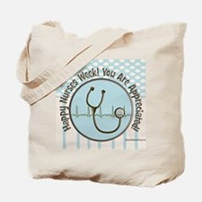 CP happy nurses week chocolate blue Tote Bag