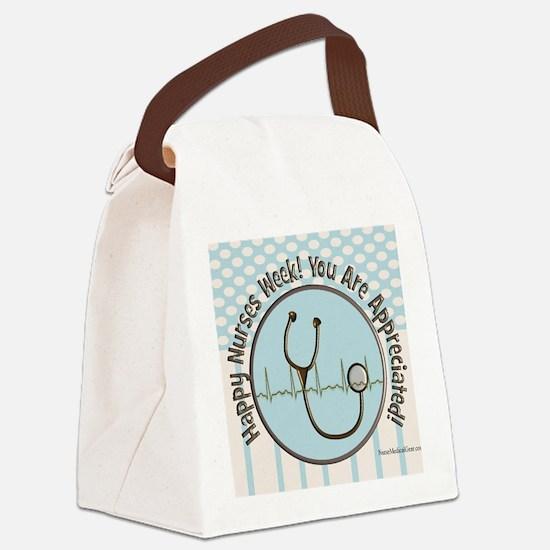 CP happy nurses week chocolate bl Canvas Lunch Bag