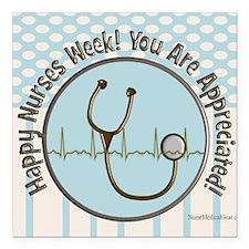 "CP happy nurses week cho Square Car Magnet 3"" x 3"""